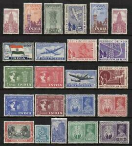 INDIA 1946-51  7 Sets Excellent Looking  M.Mint with Gum  No Hidden Faults But?