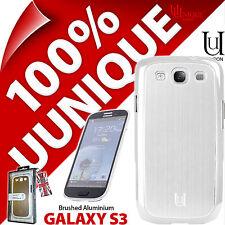 Nouveau Uunique coque rigide pour Samsung i9300 Galaxy S3 housse en aluminium blanc