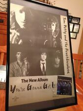 "2 BIG 11X17 FRAMED TOM PETTY ""YOU'RE GONNA GET IT!"" LP ALBUM CD PROMO ADS"