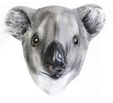 Koala Bear Latex Mask Australia Outback Animal Fancy Dress Australian Kangaroo