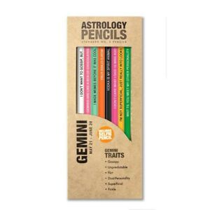 Pencil Stationary Set For Astrology Gemini Multi Colors Writing And Drawing Fun