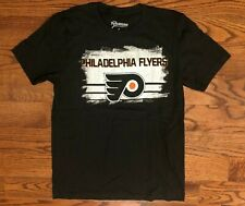 Philadelphia Flyers Hockey 108 Stitches Black T-Shirt Men's Large NWOT