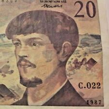 20 Francs, 20 F 1980-1997 ''Debussy'', 1987, Undated (1987) France