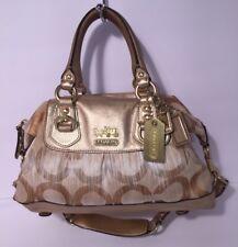 Coach Ashley OP Art Signature C Sabrina Satchel Shoulder Bag 13585 Gold RARE