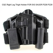 Hunting Right Drop Leg Thigh Pistol W/ 2 Pouches Holster f/ SIG SAUER P226 HOT