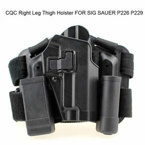 Tactical Drop Leg Right-hand Thigh Holster With 2 Pouches for SIG SAUER P226