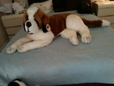 Lifesize Stuffed Saint Bernard Dog-With Tag-On Sale