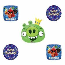 Angry Birds Green King Pig Birthday Balloon Bouquet Decoration supplies