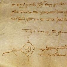 CONFESSION IN FAVOR ELISENDIS WIFE OF BERNAT SANTA COLOMA. PARCHMENT, SPAIN.1341