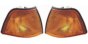 1991-1997 BMW 3-Series E36 4D AMBER Corner Turn Signal Lights Set LEFT+RIGHT