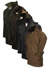 Walker & Hawkes Unpadded Wax Jacket COTTON Waxed Coat XS-5XL Olive Navy Brown