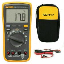 Fluke 17b Digital Multimeter Tester Dmm With Tl75 Test Leads Soft Case Kch