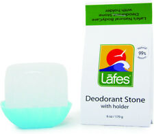 Natural Crystal Deodorant Stone with Holder, Lafes Natural Body Care, 6 oz