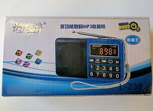 Mini Digital FM Radio Speaker SD Card with Rechargeable Battery