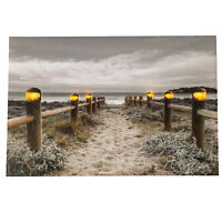 6 LED Light Up HD Seashore Beach Scene Wall Home Decor Canvas Picture Gift Art