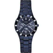 Guess Women's Glisten Blue-tone Stainless Steel Bracelet Watch W0027l3