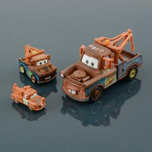 Lot of 3 Disney Pixar Cars: Tow Mater #95 1:55 & Mini Racers & Tiny Mater