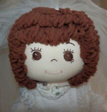 "Vintage 16"" OOAK Handmade Cloth BRIDE DOLL Signed Linda 1987 Personalized"