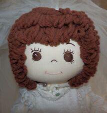 "Vintage 16"" Ooak Handmade Cloth Bride Doll Signed Linda 1987 Personalized"