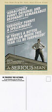 A SERIOUS MAN THE MOVIE UNUSED ADVERTISING COLOUR POSTCARD