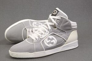 GUCCI Baling Fabric High Top Sneakers 9G UK / US9.5 /43 shoes mens 309517