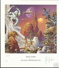 Space Opera - Joe Jusko - 1999 European Tour  - Signed and Numbered Print.