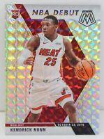 Kendrick Nunn RC 2019-20 SILVER WAVE MOSAIC PRIZM NBA Debut Rookie Card 268 Heat