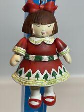 RARE Mary Engelbreit Little Girl I Love Christmas Ornament Moveable Legs Arms