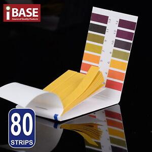 80 pH Test Strips Litmus Paper Urine Saliva Acid Alkaline Liquid Level Indicator