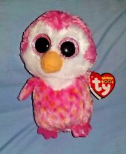 2017 Chillz Ty Beanie Boos -  Pink Penguin w/Sparkle Eyes - MWMT - FREE SHIPPING