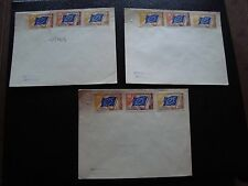 FRANCE - 3 enveloppes non obliteres (conseil de l europe) (cy93) french