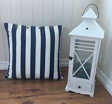 Cushion Cover Navy White Stripe Mode Hamptons Nautical Euro Pillow Case 60x60 cm