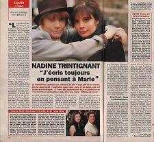 Coupure de presse Clipping 1994 Nadine Trintignant (1 page 1/2)