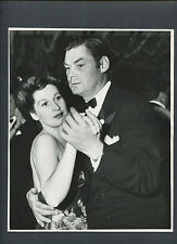 JOHNNY ( TARZAN ) WEISSMULLER + WIFE BERYL SCOTT CANDID ON NEWS YEAR'S EVE 1942