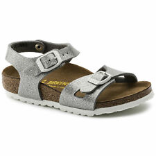 f27feee0114ea Birkenstock Rio Magic Galaxy Silver Birko-flor Flat Sandals 6 US Infant /  24 EU