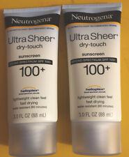 2 Bottles Of Neutrogena Ultra Sheer Dry Touch 100+ Sunscreen 3.0Fl Oz (88ml)