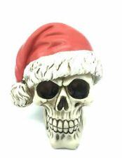 Santa Christmas Resin  Skull Head Ornament Figurine Decor gifts 15.5x13x13.5cm