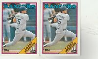 1988 Topps Texas Rangers #490 Larry Parrish-2 CARDS