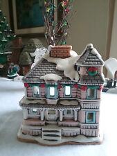 Vintage Christmas Winter Building Tea Light Holder