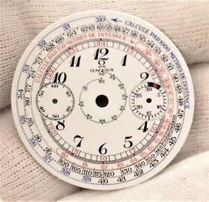 Omega 33.3 Vintage early Chronograph Watch Breguet enamel Dial Ø34.2mm