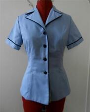 Vintage 1980's Retro 1940's Blue & White Women's US Army Surplus Jacket Sz 14 S