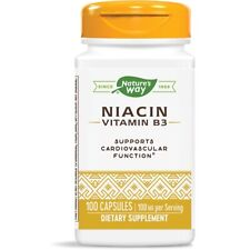Nature's Way - Vitamina B-3 Niacina, 100mg X 100 Cápsulas