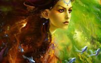 Fantasy Mermaid oil Painting Art Wall Picture Printed on Canvas Living Room Deco