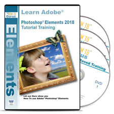 New Photoshop Elements 2018 tutorial training 16 hours 243 videos on 3 DVDs