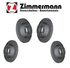 For BMW 335i 340i Front & Rear Vented Disc Brake Rotors KIT Zimmermann Coat Z