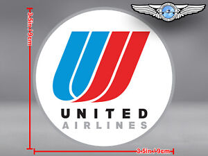UNITED AIRLINES UAL ROUND TULIP LOGO DECAL / STICKER