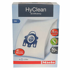 4x Genuine New 3D Efficiency HyClean Dust Bags For Miele GN Vacuum Cleaners