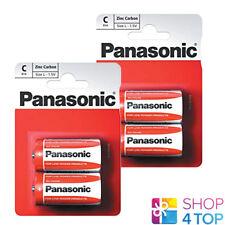 4 PANASONIC ZINC CARBON C LR14 BATTERIES BLISTER 1.5V BABY MN1400 AM2 E93 NEW