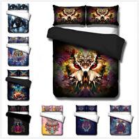 3D Owl Animal Bedding Set Bohemian Colorful Duvet Cover Pillow Sham Quilt Cover