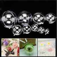 10pcs 5 Ball Christmas Baubles Clear Fillable Xmas Tree Decor Ornaments Gift Box
